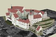 Colditz-kasteel 3d model