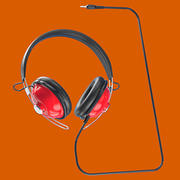 Retro Headphones with 3.5mm Plug 3d model