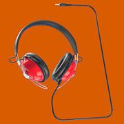 Retro hörlurar med 3,5 mm plugg 3d model