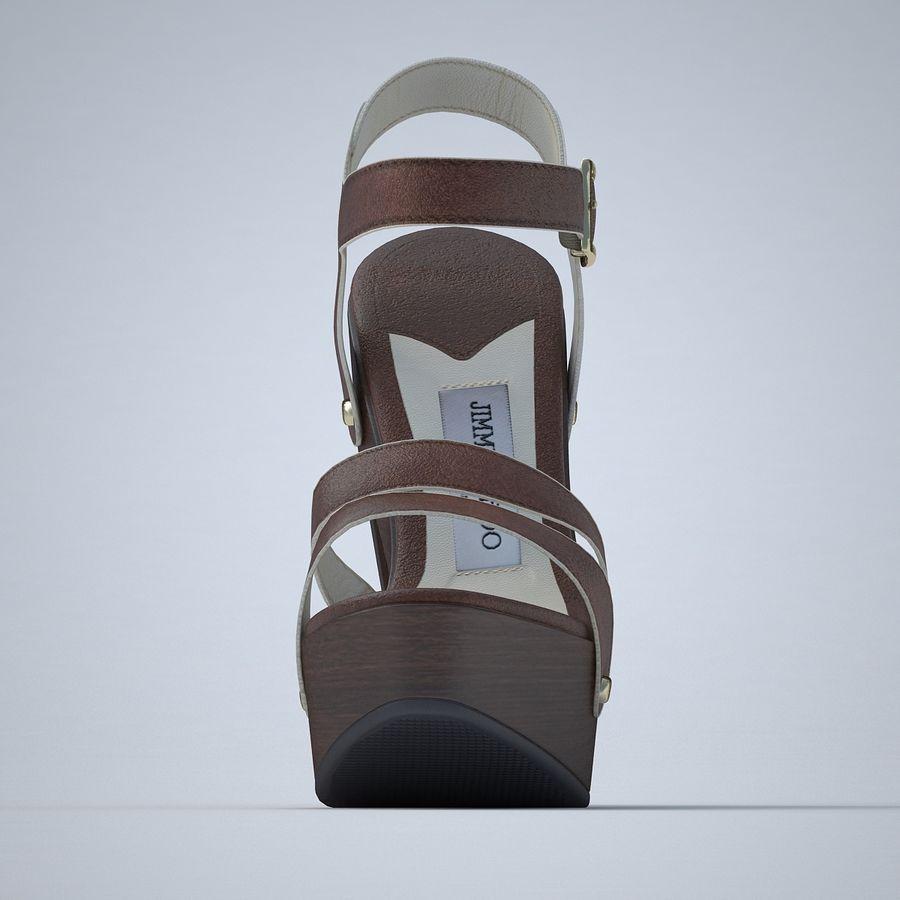 Jimmy Choo - Sandalias de meseta royalty-free modelo 3d - Preview no. 12
