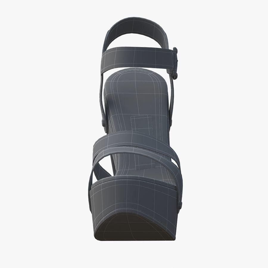 Jimmy Choo - Sandalias de meseta royalty-free modelo 3d - Preview no. 13