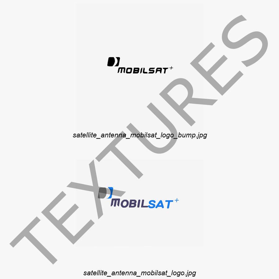 Satellitenantenne MobilSat royalty-free 3d model - Preview no. 2