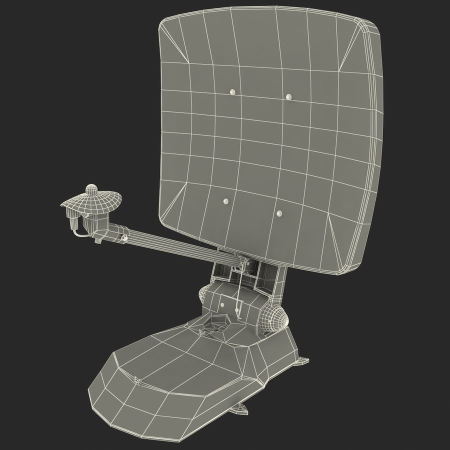 Satellitenantenne MobilSat royalty-free 3d model - Preview no. 15