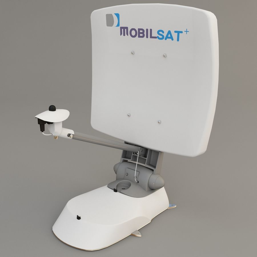 Satellitenantenne MobilSat royalty-free 3d model - Preview no. 4