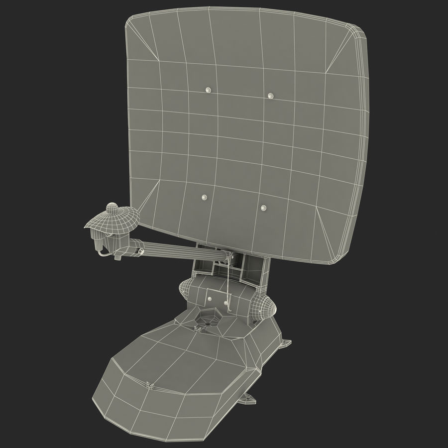 Satellitenantenne MobilSat royalty-free 3d model - Preview no. 14