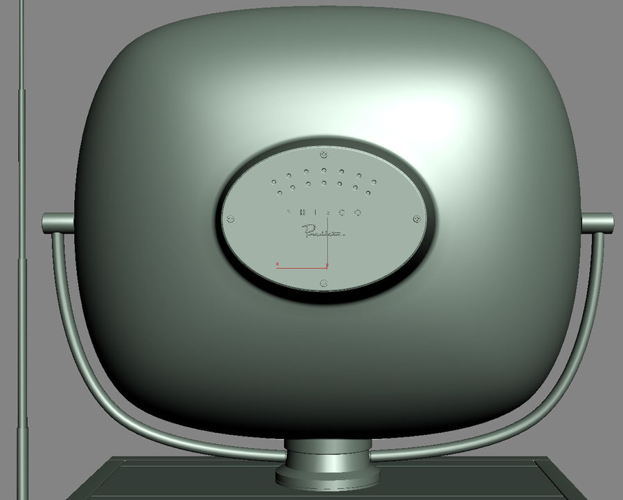 Retro TV Philco Predicta royalty-free 3d model - Preview no. 8