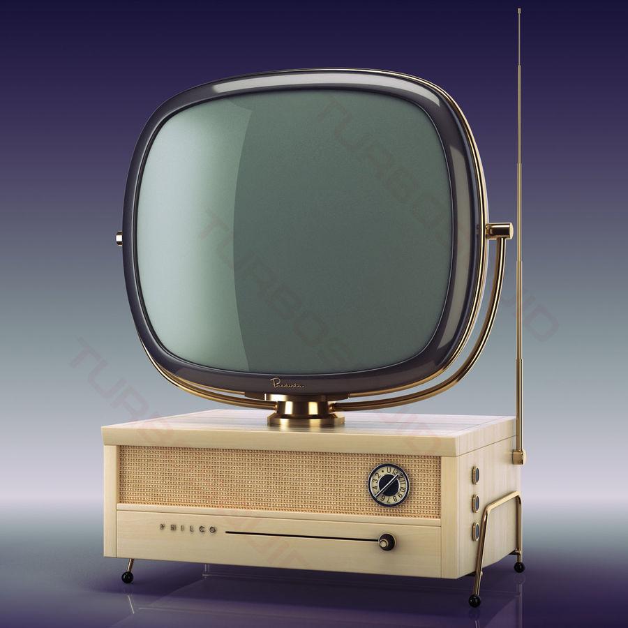 Retro TV Philco Predicta royalty-free 3d model - Preview no. 3