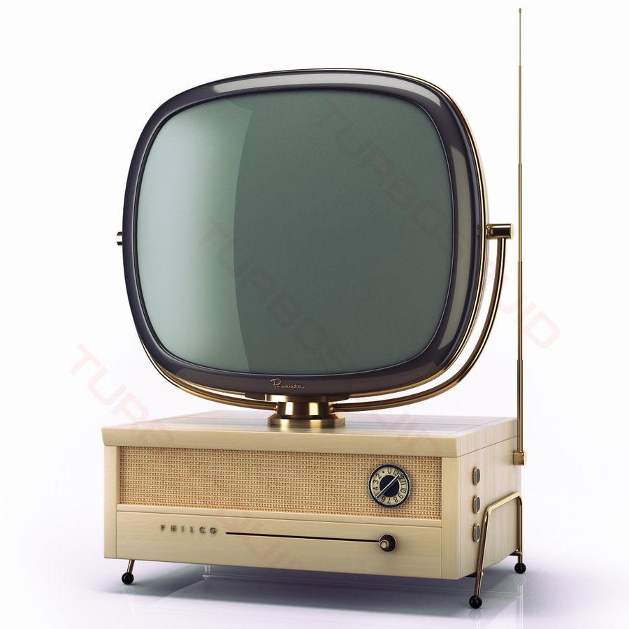 Retro TV Philco Predicta royalty-free 3d model - Preview no. 2