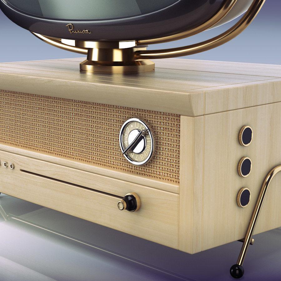 Retro TV Philco Predicta royalty-free 3d model - Preview no. 4