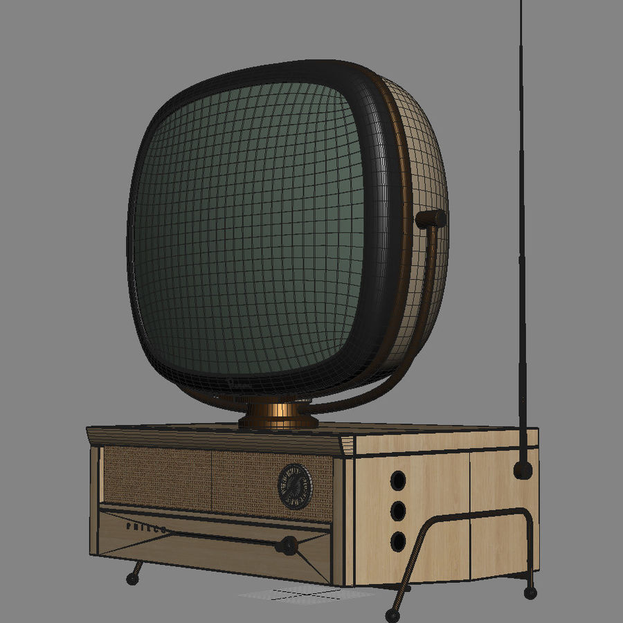 Retro TV Philco Predicta royalty-free 3d model - Preview no. 6