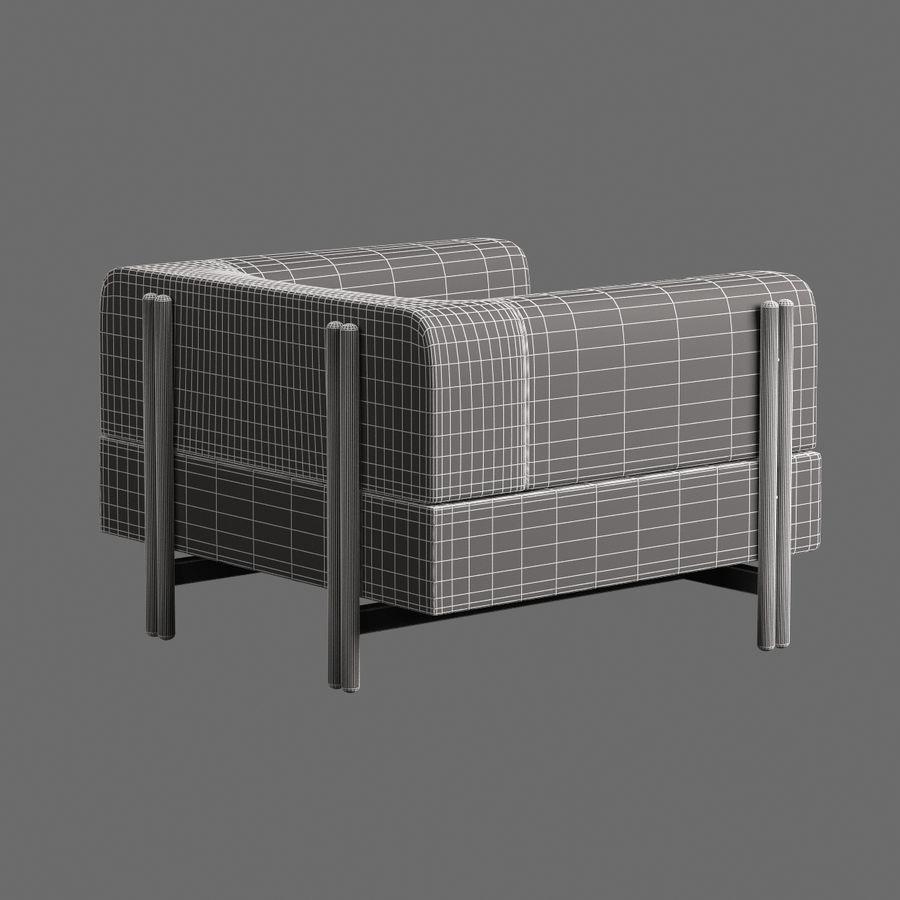 家具付き003 royalty-free 3d model - Preview no. 8