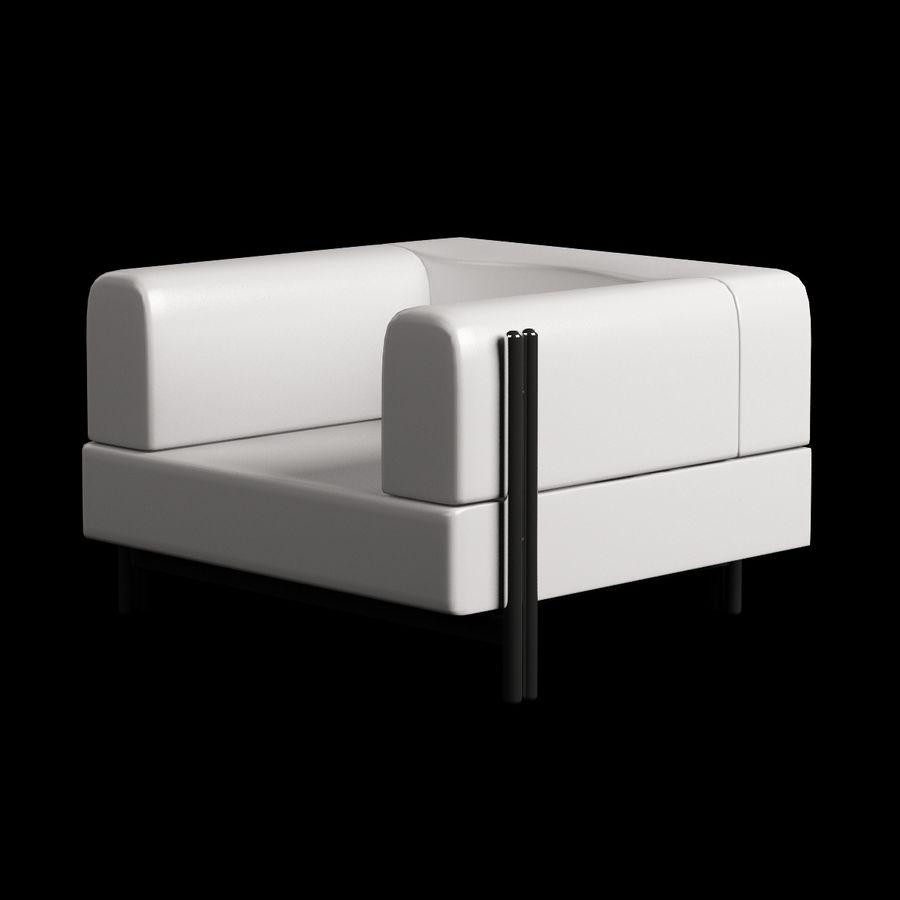 家具付き003 royalty-free 3d model - Preview no. 2
