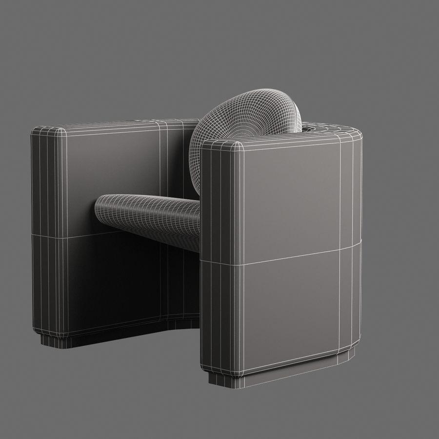 椅子家具006 royalty-free 3d model - Preview no. 7