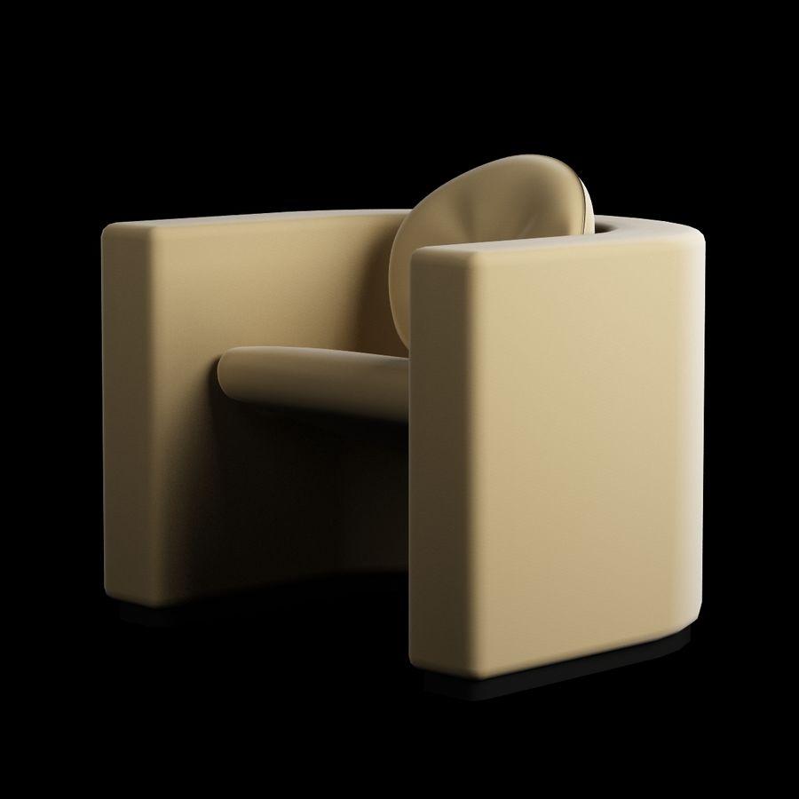 椅子家具006 royalty-free 3d model - Preview no. 2