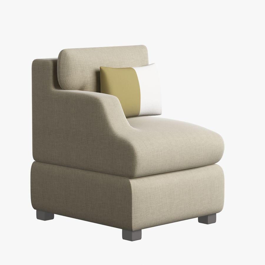 Chair Furnished 008 royalty-free 3d model - Preview no. 4