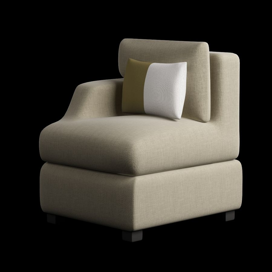 Chair Furnished 008 royalty-free 3d model - Preview no. 2
