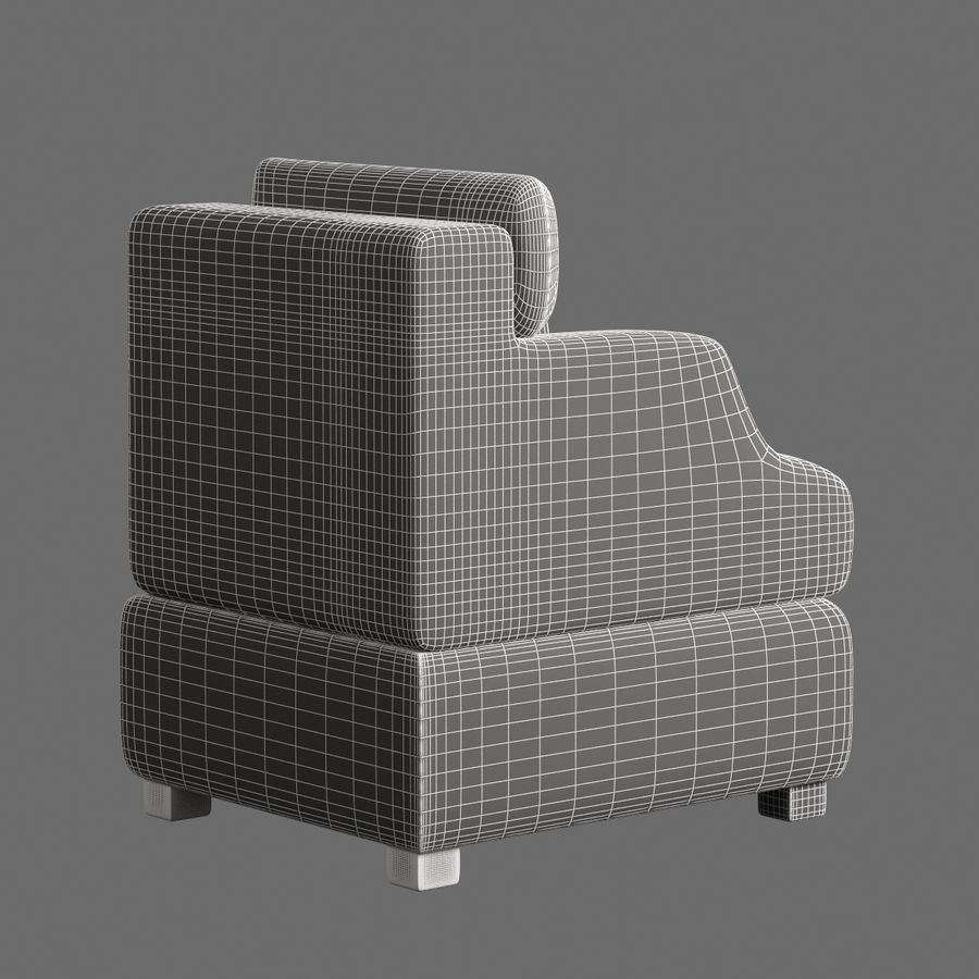 Chair Furnished 008 royalty-free 3d model - Preview no. 8
