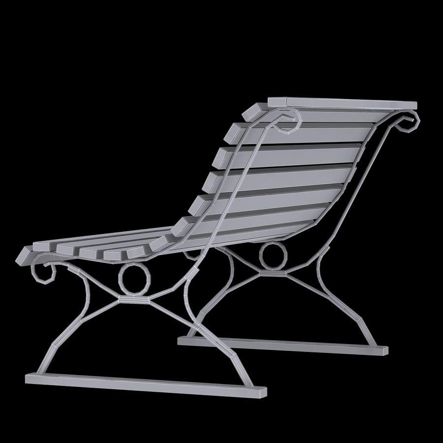 Garden Bench royalty-free 3d model - Preview no. 10