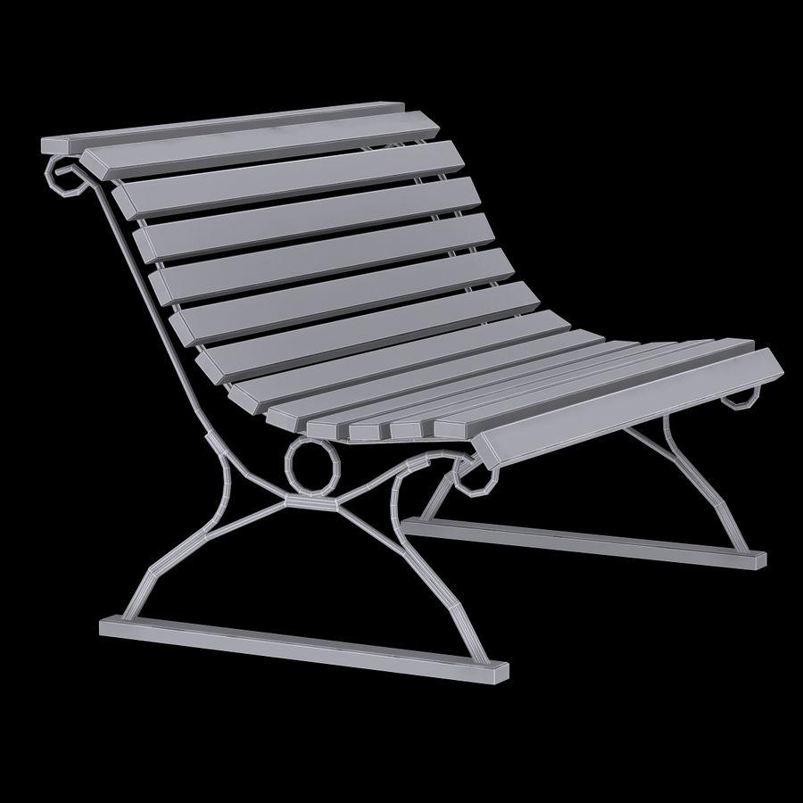 Garden Bench royalty-free 3d model - Preview no. 9