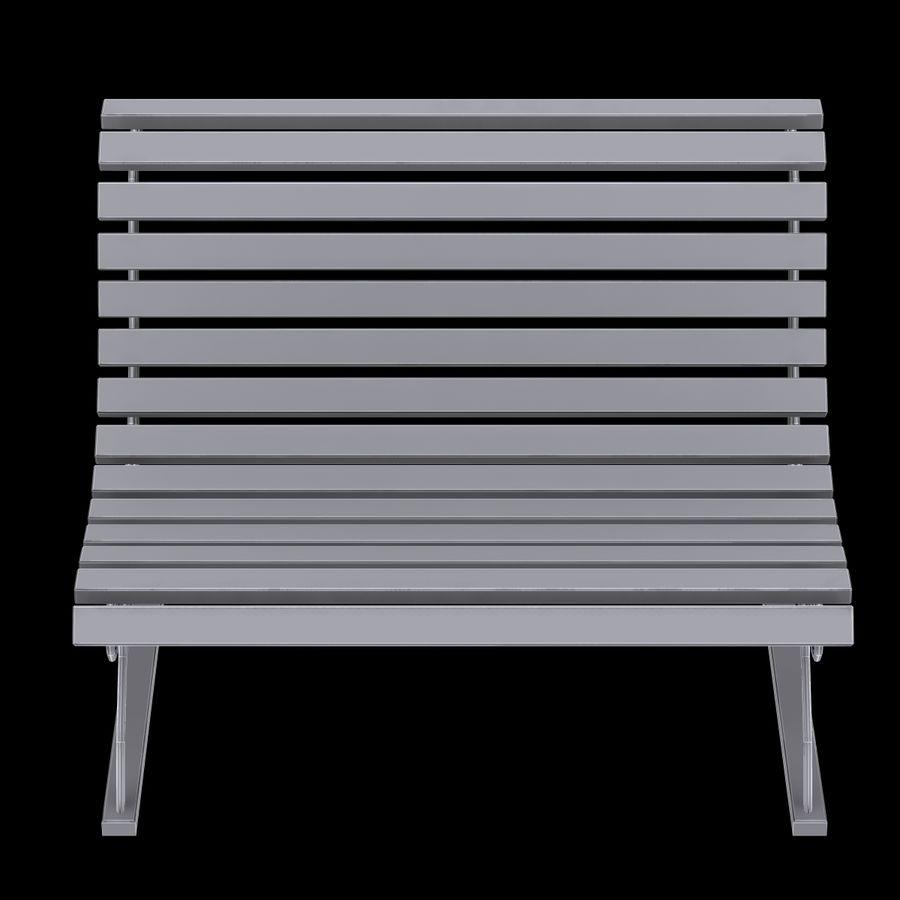 Garden Bench royalty-free 3d model - Preview no. 11