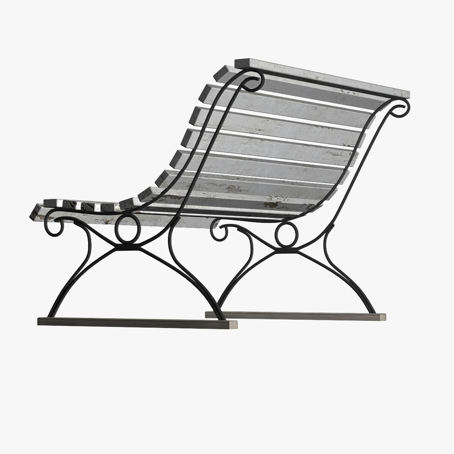 Garden Bench royalty-free 3d model - Preview no. 4