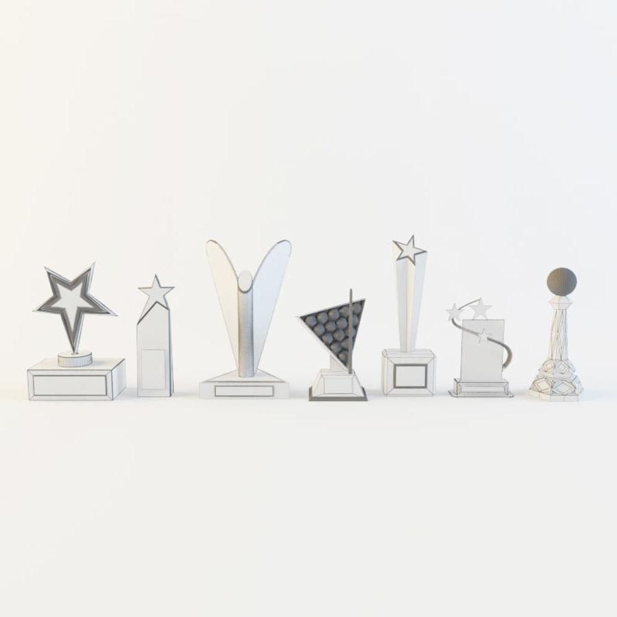 奖项-奖杯 royalty-free 3d model - Preview no. 10