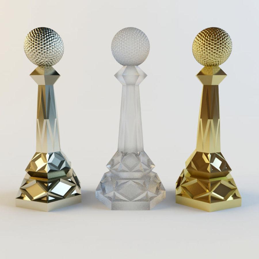 奖项-奖杯 royalty-free 3d model - Preview no. 7