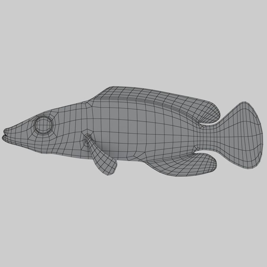 Mystery Wrasse royalty-free 3d model - Preview no. 7