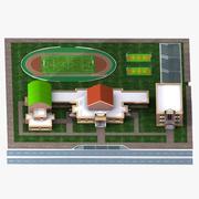 Skola 3d model