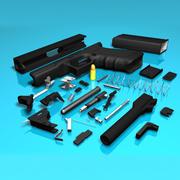 Glock 17 (Animated) ver2 3d model