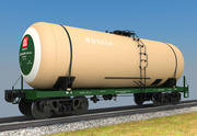 Railroad tankcar Russia 3d model