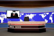Sala studio notizie di parole 3d model
