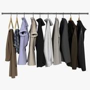 Vêtements sur cintres 3d model