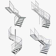 Four Stairs (+Bonus) 3d model