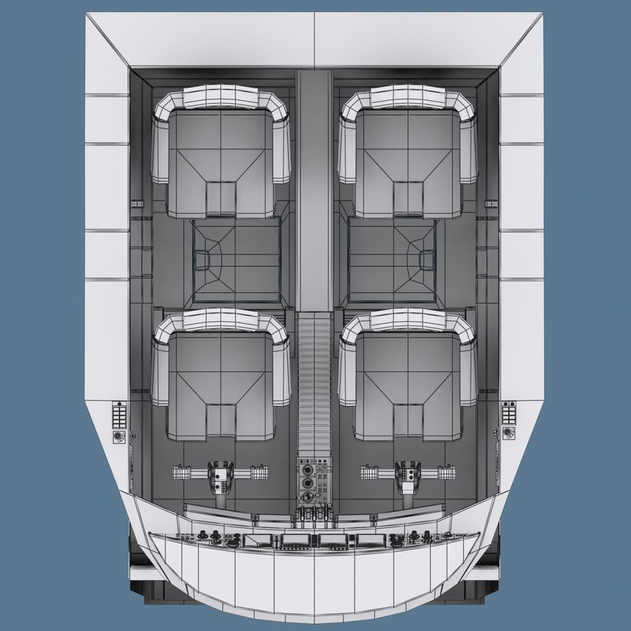 Cockpit C royalty-free 3d model - Preview no. 11
