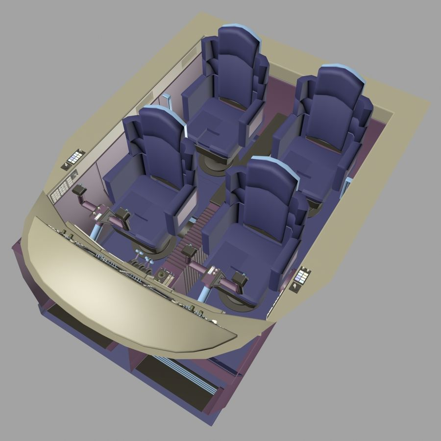 Cockpit C royalty-free 3d model - Preview no. 3