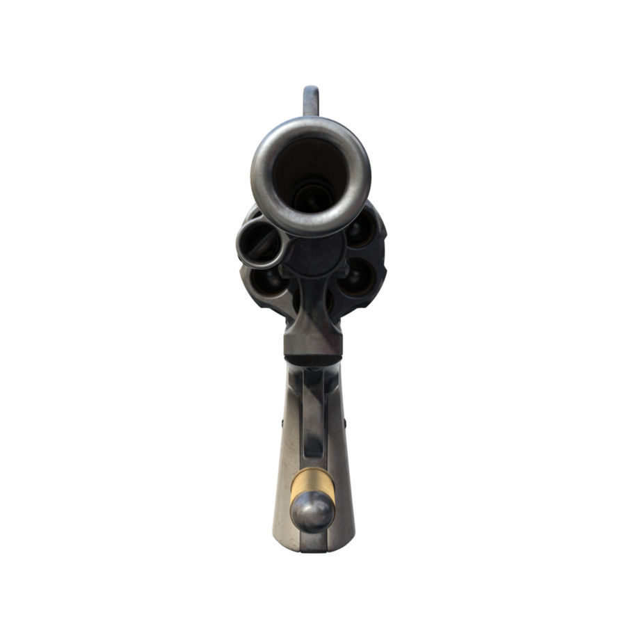 Colt Revolver royalty-free 3d model - Preview no. 5