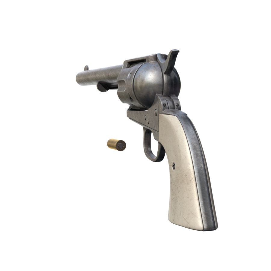 Revólver Colt royalty-free modelo 3d - Preview no. 9