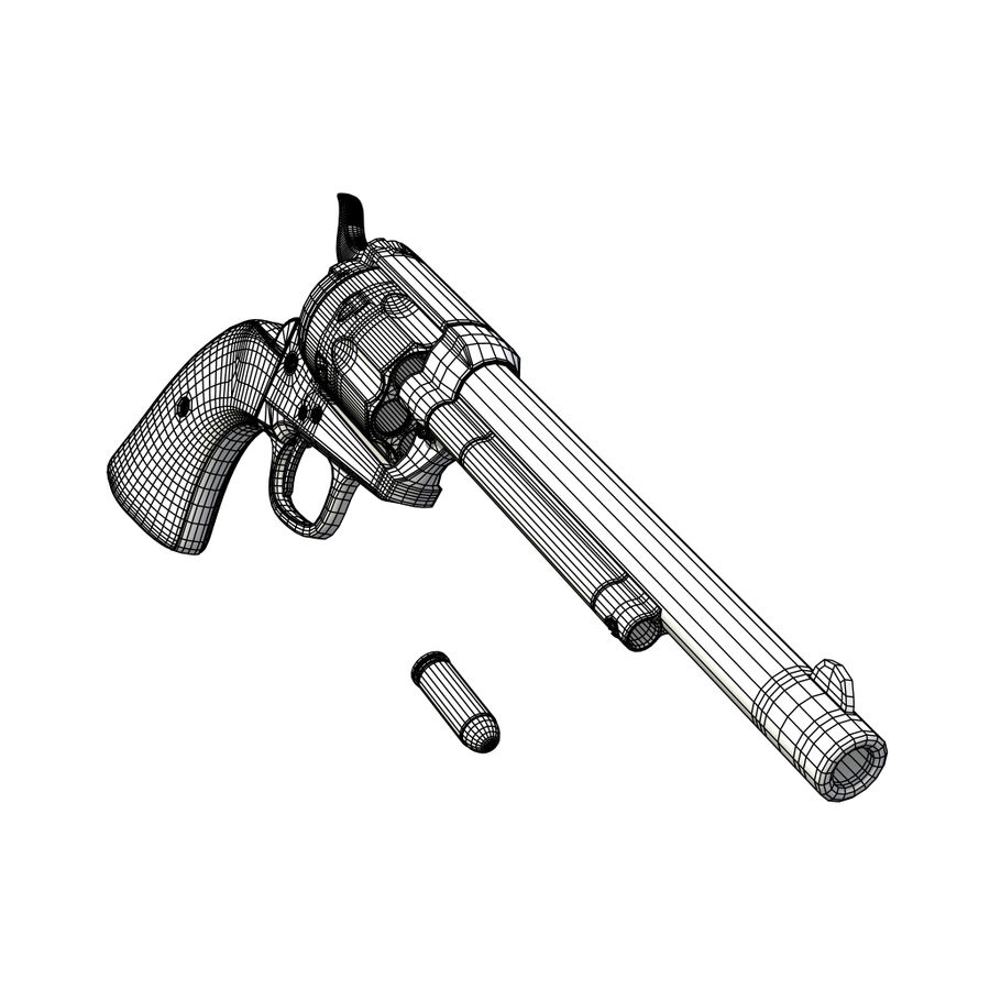 Revólver Colt royalty-free modelo 3d - Preview no. 20