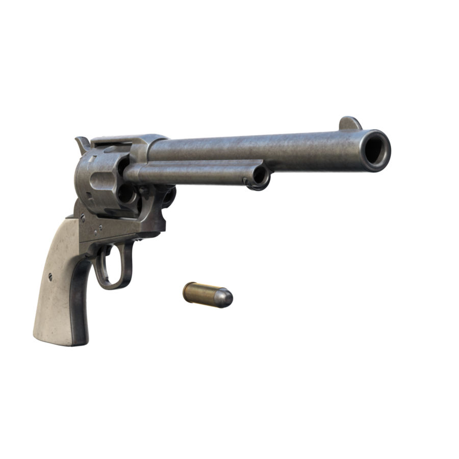 Colt Revolver royalty-free 3d model - Preview no. 3
