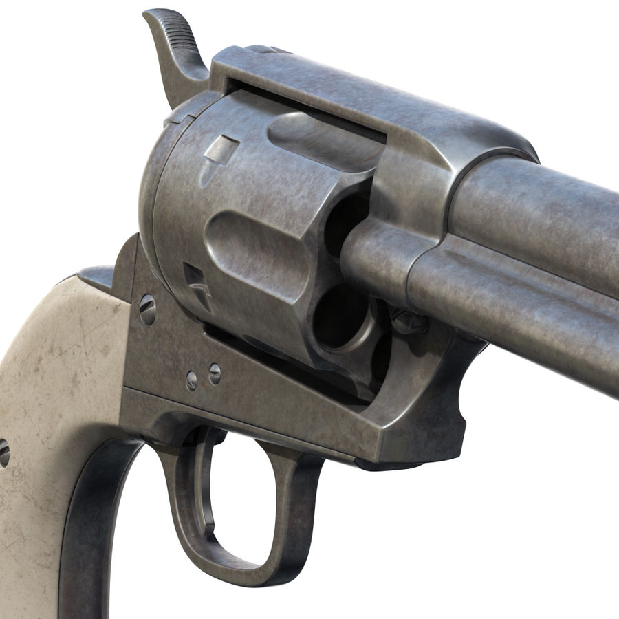 Colt Revolver royalty-free 3d model - Preview no. 10