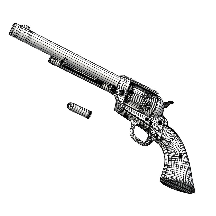 Revólver Colt royalty-free modelo 3d - Preview no. 21