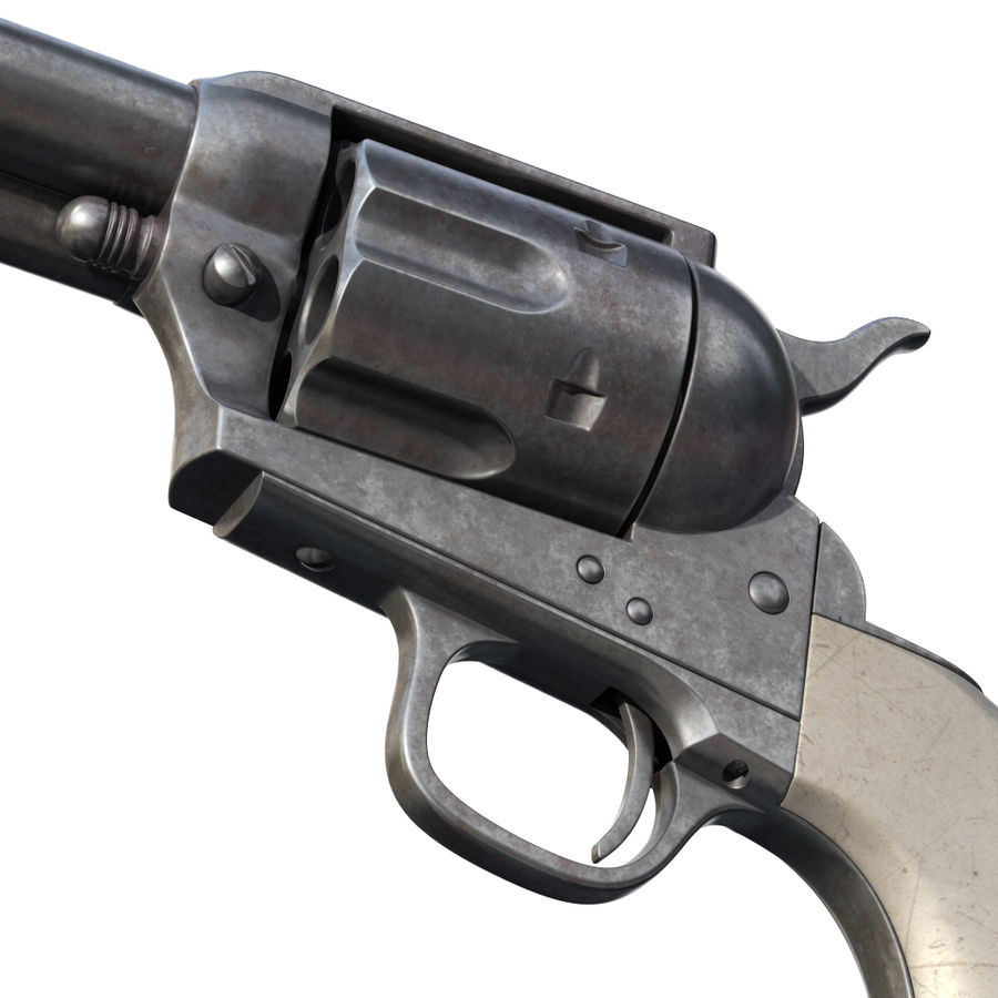 Revólver Colt royalty-free modelo 3d - Preview no. 11