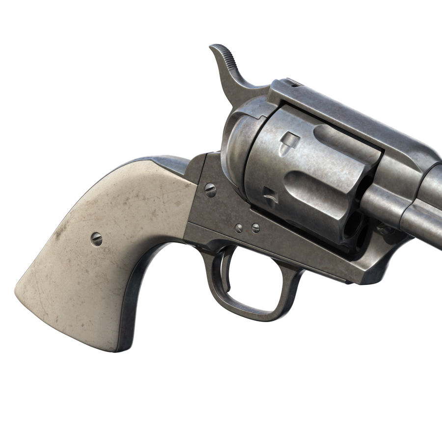 Colt Revolver royalty-free 3d model - Preview no. 13