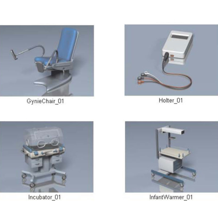 Medical Equipment royalty-free 3d model - Preview no. 18
