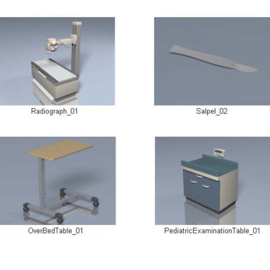Medical Equipment royalty-free 3d model - Preview no. 11