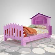 Pink Bed   A01 3d model