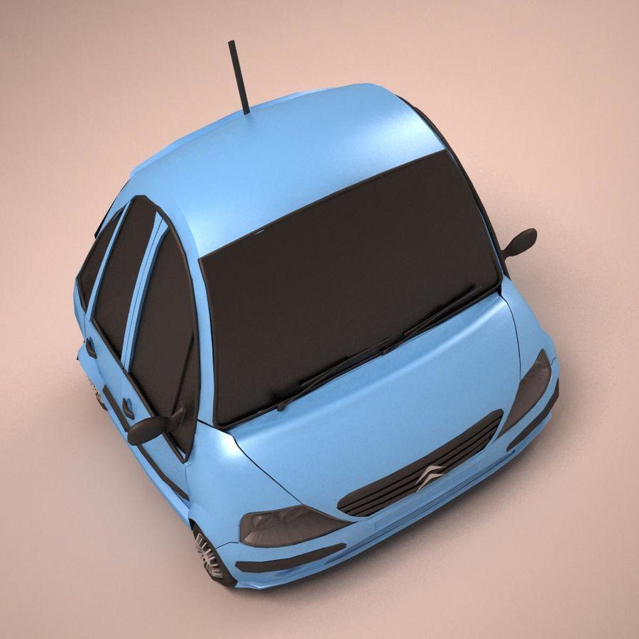 Carro Citroen C3 Toon royalty-free 3d model - Preview no. 10