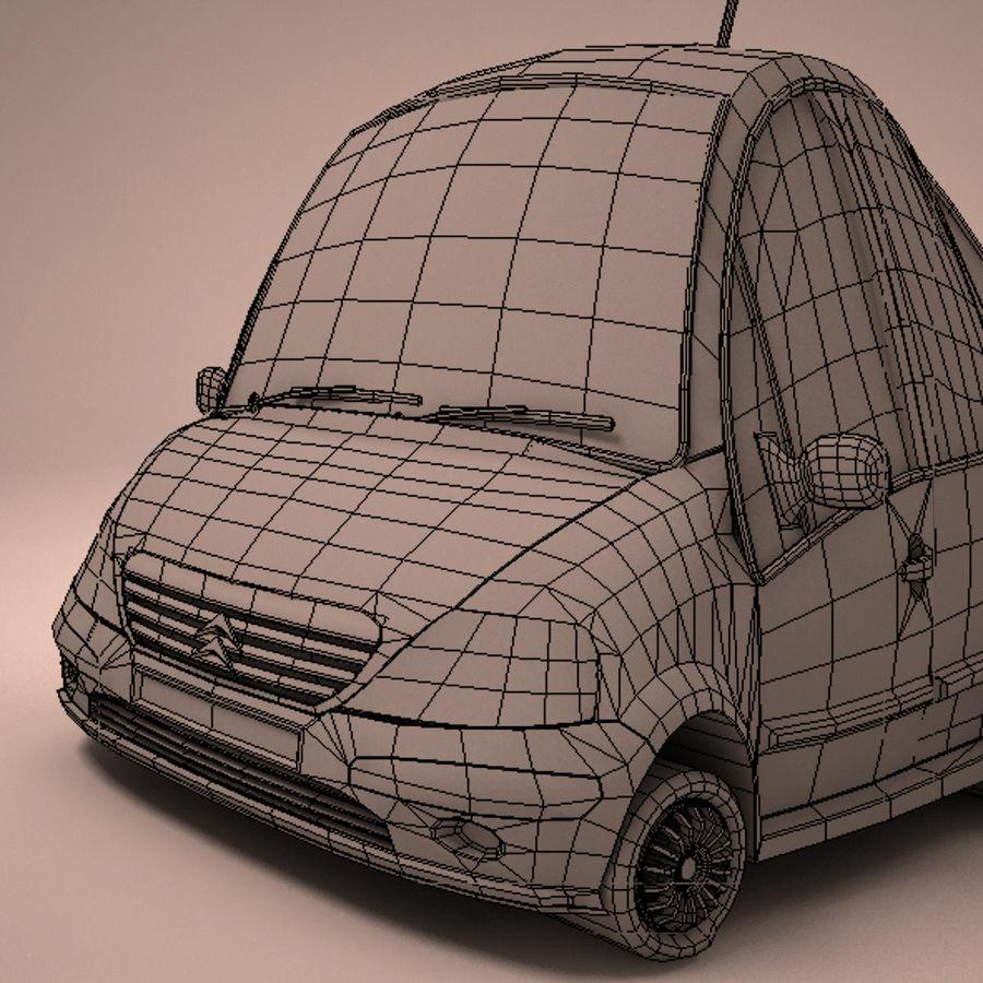 Carro Citroen C3 Toon royalty-free 3d model - Preview no. 20