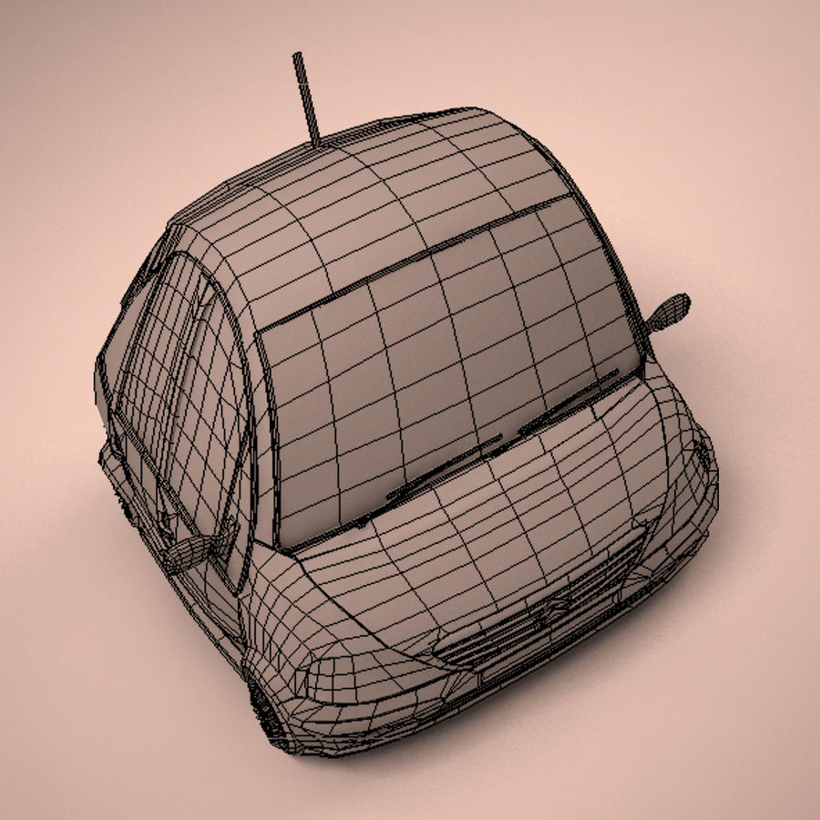 Carro Citroen C3 Toon royalty-free 3d model - Preview no. 19